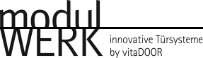Logo modulWERK » innovative Türsysteme by vitaDOOR